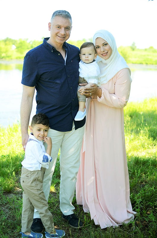 Dr. Mourad and his family