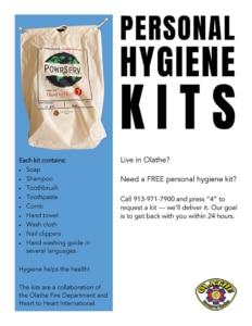 Olathe Fire Hygiene Kit