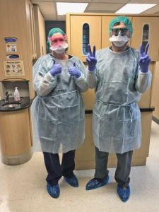 Dr. Day with Dr. Nader